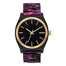 Кварцевые часы женские Nixon Time Teller Acetate Multi/Black/Gold
