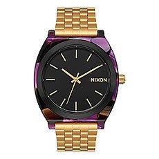 Кварцевые часы женские Nixon Time Teller Acetate Multi/Gold