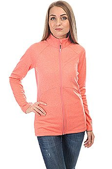 Толстовка классическая женская Roxy Dailyrun Fleece Shell Pink