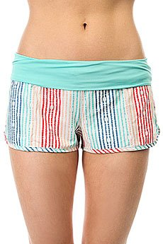 Шорты пляжные женские Roxy Endless Sum Pt Olmeque Stripe Combo