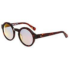 Очки женские Carhartt WIP Wip Fox Sunglasses Tortoise Shell/Pink Mirrored Lenses