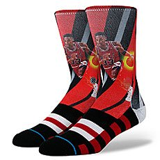 Носки средние Stance Blue Nba Legends Pippen - Trading Card Black/Red