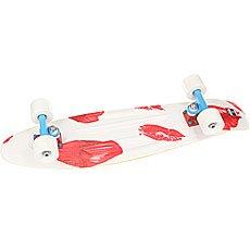 Скейт мини круизер Пластборд Pixel White/Red 7.25 x 27 (68.5 см)