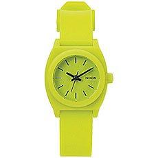 Кварцевые часы Nixon Small Time Teller Lime