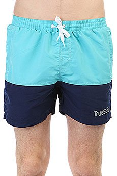 Шорты пляжные TrueSpin Basics Swim Shorts Light Blue/Navy