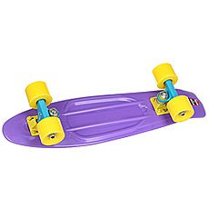 Скейт мини круизер Пластборды Wild Purple 6 x 22.5 (57 см)