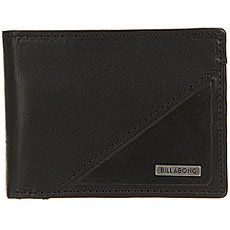 Кошелек Billabong Split Leather Wallet Black