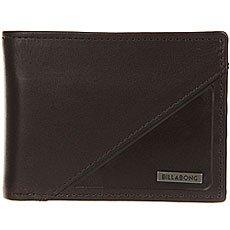 Кошелек Billabong Split Leather Wallet Chocolate