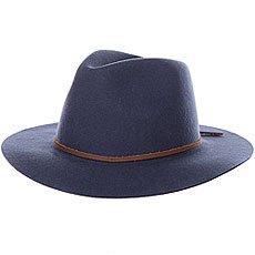 Шляпа Brixton Wesley Fedora Washed Navy