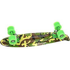 Скейт мини круизер Turbo-Fb Сamouflage Black/Green/Brown 6 x 22 (56 см)