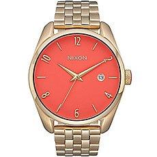 Кварцевые часы женские Nixon Bullet Gold/Coral