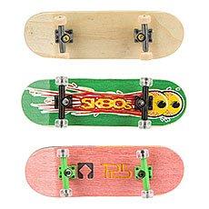 "Фингерборд Turbo-Fb Комплект ""Turbo History"" - 3 фингерборда в деревянном тройном боксе. Серии п1, п9, п10 Wide. Beige/Green/Pink"