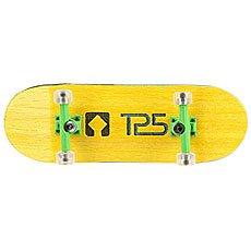 Фингерборд Turbo-Fb П10 Wide 32м с деревянным боксом Yellow/Green/Clear