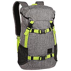 Рюкзак туристический Nixon Landlock Backpack Heather Gray/Lime