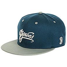 Бейсболка с прямым козырьком Запорожец Footbol Snapback Dark Blue