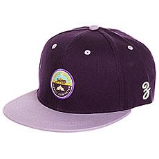 Бейсболка с прямым козырьком Запорожец Kamchatka Deep Purple
