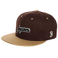 Бейсболка с прямым козырьком Запорожец Logo Brown/Beige
