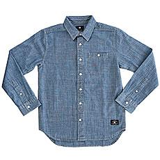 Рубашка в клетку детская DC Arrowood Boy Indigo Chambray