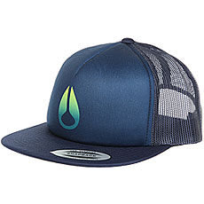 Бейсболка с сеткой Nixon Ridge Trucker Hat Navy/Gradient