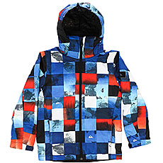 Куртка утепленная детская Quiksilver Mission Pr Yo J B Snjt Blue Red Icey Check