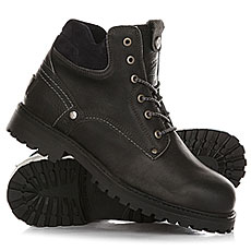 Ботинки зимние Wrangler Yuma Leather Fur Anthracite Black