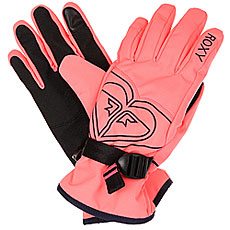 Перчатки женские Roxy Poppy Gloves Neon Grapefruit