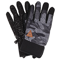 Перчатки Quiksilver Method Glove Black Grey Camokazi
