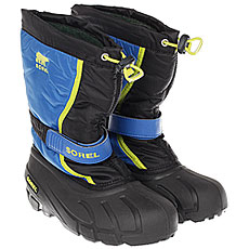 Ботинки для сноуборда детские Sorel Youth Flurry Black Super Blue