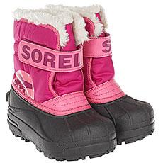 Ботинки для сноуборда детские Sorel Childrens Snow Commander Tropic Pink Deep Blush