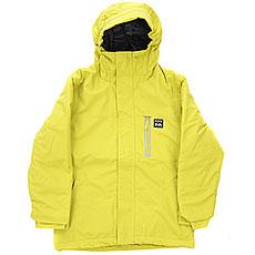 Куртка утепленная детская Billabong All Day Solid Yellow