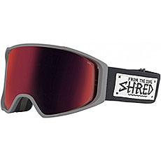 Маска для сноуборда Shred Simplify Peel Out + Доп Линза Grey/Black