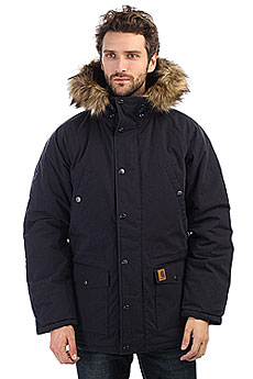 Куртка зимняя Carhartt WIP Trapper Parka Dark Navy/Black