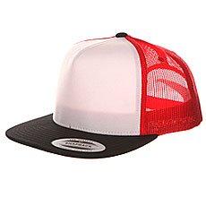 Бейсболка с сеткой Flexfit 6005FW Black/White/Red