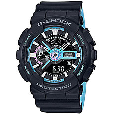 Электронные часы Casio G-Shock Ga-110pc-1a Black/Light Blue