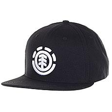 Бейсболка с прямым козырьком Element Knutsen Cap Black/White