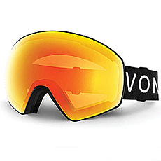 Маска для сноуборда Von Zipper Jetpack Black Satin/Fire Chrome