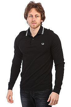 Поло Fred Perry Twin Tipped Shirt Black