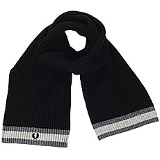 Шарф Fred Perry Bomber Tipped Scarf Black/Grey