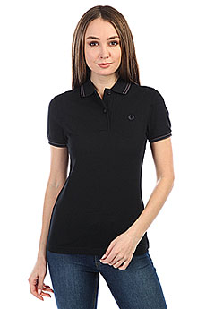 Поло женское Fred Perry Twin Tipped Black
