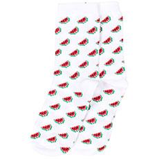 Носки высокие женские Запорожец Арбуз Белые