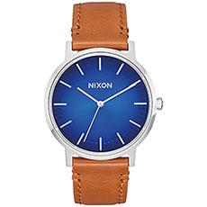 Кварцевые часы Nixon Porter Leather Blue Ombre/Saddle