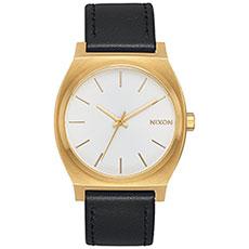 Кварцевые часы Nixon Time Teller Gold/White Sunray/Black