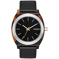 Кварцевые часы женские Nixon Time Teller Acetate Tortoise/Silver/Black