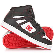 Высокие Кеды детские DC Pure Ht Black/Red/White