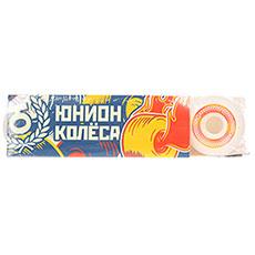 Колеса для скейтборда Юнион Recycle White/Orange 101A 52 mm