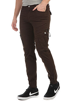 Штаны прямые Skills Asymmetric Pants Brown