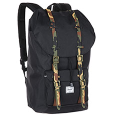 Рюкзак туристический Herschel Little America Black/Woodland Camo Rubber