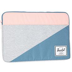 Чехол для ноутбука Herschel Anchor Sleeve For Macbook Light Grey Crosshatch/Aegean Blue/Peach