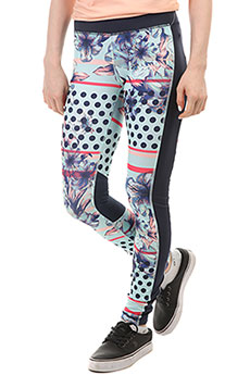 Леггинсы женские Roxy Spy Game Pant Blue Light Rain Daze
