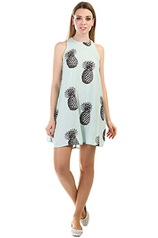 Платье женское Roxy Sweetseas Blue Light Big Pineapple